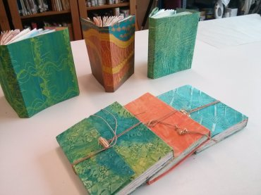 Books made at the Painted Journal Workshop